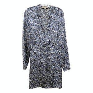 Stella McCartney blue citrus print silk dress